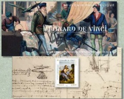 France-2019-Bloc-souvenir-Leonard-de-Vinci-1452-1519-MNH-Neuf** - Souvenir Blocks