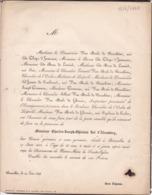 BRUXELLES Charles ROL D'ALSEMBERG 86 Ans 1848 Famille Van Male De GHORAIN De MAN De LENNICK Faire-part - Décès