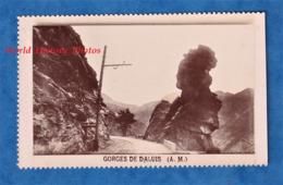 Photo Ancienne Vers 1900 - Gorges De DALUIS ( Alpes Maritimes ) - Ligne De Chemin De Fer - Train ? Tramway ? Guillaumes - Trenes