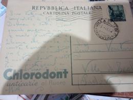 INTERO POSTALE L.20 QUADRIGA 1952 CHLORODONT D A VILLA DI TEOLO  PD   HF1197 - 4. 1944-45 Repubblica Sociale