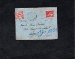 LAC 1932 - Cachets  ORAN Sur Enveloppe De Paris Pour Algérie Taxée - Taxe à Percevoir YT 25 - Storia Postale