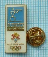 UKRAINE / Badge, Pin / Olympics. National Team. Winter Olympic Games. Salt Lake City 2002. Biathlon - Biathlon