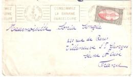 POINTE à PITRE Guadeloupe Lettre 65 C Rades De Saintes Yv 111 Ob RBV 1938 Consommez Banane Dest Villeneuve St Georges - Guadeloupe (1884-1947)