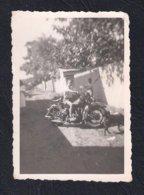 REAL PHOTO PORTUGAL MOTA MOTOCICLETA MOTORCYCLE HARLEY-DAVIDSON 1950'S - Radsport