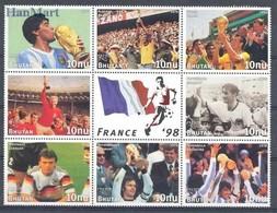 Bhutan 1997 Mi 1749-1756 MNH ( LZS8 BHTark1749-1756 ) - Coupe Du Monde