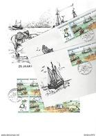 Set  De Zee 2273/76 - Marcophilie