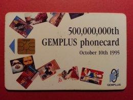 Carte Gemplus 500.000.000th Phonecards Verso Telecom 95 October 1995 (BF1217 - Herkunft Unbekannt