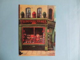 CPM Boutique THOMPSONS STORES Peinture De Ludmila Brychta - Peintures & Tableaux