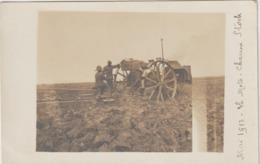 CPA   CARTE PHOTO  MAI 1913 LA MOTO CHARRUE STOCK  PHOTOGRAPHE MULOT PARIS  TTB   2 - Tracteurs