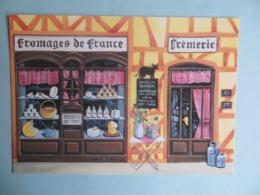 CPM BD 14 Peinture Fromages De France Fromager Illustrateur Béatrice Douillet - Avion Postal - Peintures & Tableaux