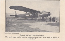 """Early Tri-motor Commericial Airplane """"PATRIOT"""" , New York City, 1930s - 1919-1938: Entre Guerres"""