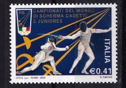 Italy, 2003- Campionato Del Mondo Di Scherma , Trapani. MintNH - Fencing