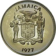 Monnaie, Jamaica, Elizabeth II, 5 Cents, 1977, Franklin Mint, USA, Proof, FDC - Jamaica