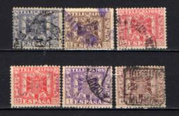 SPAGNA - 1940 - FRANCOBOLLI PER TELEGRAFO - USATI - Télégraphe