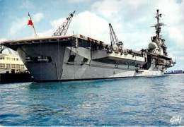 """** Lot De 5 Cartes ** BATEAU DE GUERRE : Le PORTE AVION """" LE FOCH """" CPSM CPM GF -Warship Kriegsschiff Oorlogsschip - Guerre"""