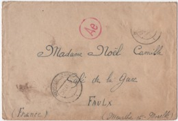 AUTRICHE. IIIème REICH. NEUSIEDL An Der ZAYA. CENSURE. 1943. POUR FAULX (54) - Covers & Documents