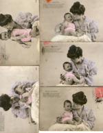 "Série De 5 CPA   - Bébé   - ""GROS CHAGRIN "" - Babies"