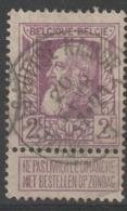 "COB N° 80 Obl. "" Ambulant "" - Bruxelles-Luttre-Namur - 1905 Grove Baard"