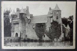 CPA 56 CAMPENEAC - Château De Trecesson, Construit Au XVe Siècle - Edit. Berthaux 501 -  Réf. X 107 - Frankrijk