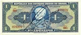 Brasil - 1 Cruzeiro - ND ( 1944 ) - Pick 132 - Série 369.ª - W/o Estampa ( 1A ) - Hand-Sign. - Marquês De Tamandaré - Brasile