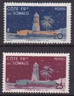 Côte Somalis N° 281 -282  Neufs ** - Voir Verso & Descriptif - Neufs
