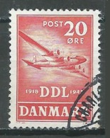 Danemark YT N°291 Société Danoise De Navigation Aérienne DDL Oblitéré ° - 1913-47 (Christian X)