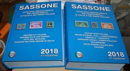 ITALY 2018, CATALOGO SASSONE COMPLETO 1^ E 2^ PARTE - Italia