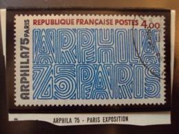 "1970-79  Timbre Oblitéré N°  1836 "" ARPHILA 75-    4.00 F ""    Net  1 - Usados"