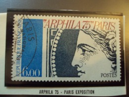 "1970-79  Timbre Oblitéré N°  1837 "" ARPHILA 75-    6.00 F ""    Net  2 - Usados"