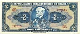 Brasil - 2 Cruzeiros - ND ( 1944 ) - Pick 133 - Série 267.ª - W/o Estampa ( 1A ) - Hand-Sign. - Duque De Caxias - Brasile