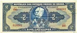 Brasil - 2 Cruzeiros - ND ( 1944 ) - Pick 133 - Série 429.ª - W/o Estampa ( 1A ) - Hand-Sign. - Duque De Caxias - Brasile