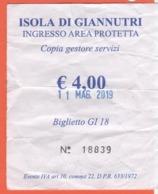 ISOLA DI GIANNUTRI - Area Protetta - Biglietto D'Ingresso - Used - Biglietti D'ingresso
