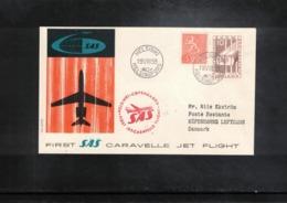 Finland 1959 SAS First Caravelle Jet Flight Helsinki - Copenhagen - Airmail