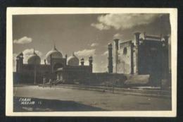 Pakistan Black & White Picture Photography Postcard Lahore Badshahi Mosque View Card - Pakistan