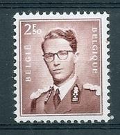 BELGIE Boudewijn Bril * Nr 1028a * Postfris Xx * WIT PAPIER - 1953-1972 Lunettes