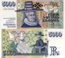"""ICELAND, 5000 KRONUR, 2001, P60, """" Ragnheiður Jónsdóttir"""" UNC - IJsland"""