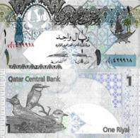 QATAR, 1 Riyal, 2017, P28b, UNC, New Signature - Qatar