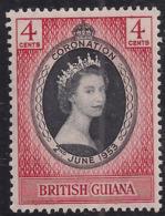 British Guiana 1953 QE2 4ct Coronation MM SG 330 ( A300 ) - British Guiana (...-1966)