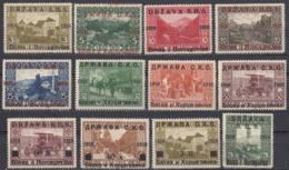 JUGOSLAVIA - 1919 - Lotto Di 12 Valori Nuovi MH: Yvert 35/40, 42/45, 47 E 48. - 1919-1929 Kingdom Of Serbs, Croats And Slovenes