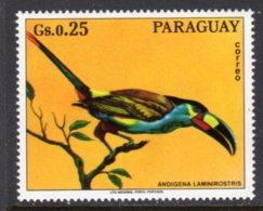 PARAGUAY - 1973 25c WILDLIFE BIRD STAMP FINE MNH ** Mi 2491 - Paraguay