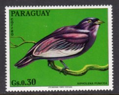 PARAGUAY - 1973 30c WILDLIFE BIRD STAMP FINE MNH ** Mi 2492 - Paraguay