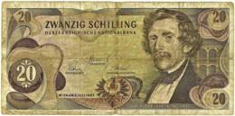 Austria - 20 Schilling - 02.07.1967 ( 1968 ) - Pick 142 - Carl Ritter Von Ghega - Austria