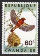 RWANDA - 1967 RED-BILLED QUELEA 60c BIRDS STAMP FINE MNH ** SG 241 - 1962-69: Mint/hinged