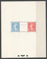 Bloc Feuillet No 2 - Exposition De Strasbourg 1927 Paire Et Intervalle ** Marques De Charnière En Marge - Sheetlets
