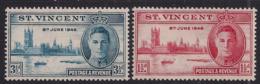 St Vincent 1946 KGV1 Set Victory MM SG 320 – 321  ( R481 ) - St.Vincent (...-1979)