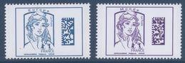N° 5019 & 5020 Marianne Datamatrix Faciale Europe Et Monde 20g - France