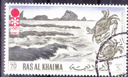 Ras Al Khaima - Olympiade Sapporo Halbinsel Siretoko Mit Krebse (MiNr. 603) 1972 - Gest Used Obl - Fujeira