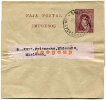Faja Postal Argentina Impresos 1/2 Centavo Kurt Fritzsche Eldorado Misiones 1919 Matasello Posadas - Usati