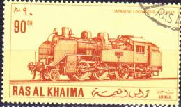 Ras Al Khaima - Japanische Lokomotiven (MiNr. 557) 1971 - Gest Used Obl - Ras Al-Khaimah