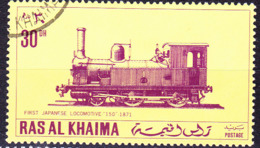Ras Al Khaima - Japanische Lokomotiven (MiNr. 554) 1971 - Gest Used Obl - Ras Al-Khaimah